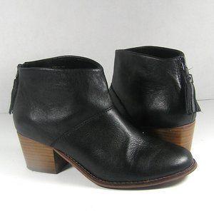 Toms Carpe Diem Ankle Boots Booties Black Size 7.5